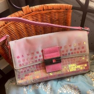 Pink sequenced Guess purse